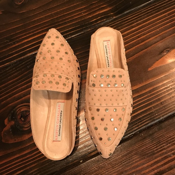 75d7700e8fed Chinese Laundry Shoes - Kristin Cavalarri Charlie Studded Loafer Mule